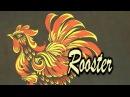 Painting of a rooster, Роспись Петушка, irishkalia