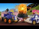 Мультики про машинки Полицейский Робокар Поли и Трактор с Прицепом