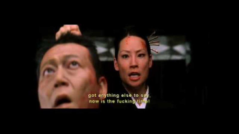 Lucy Liu (O-Ren-Ishi) severs a head in Kill Bill vol 1