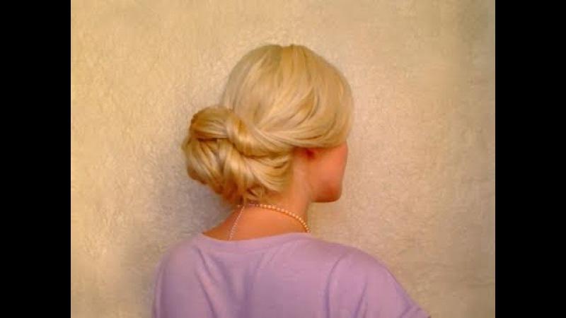 Wedding hairstyles for long hair tutorial Easy elegant updo Fryzura na dlugie wlosy