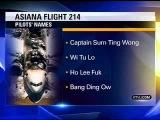 News Station Reports Asiana Flight 214 Pilots Names