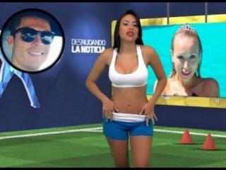 Телеведущая разделась в эфире расказывая о Криштиану Роналдо