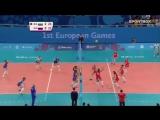 ЕВРОПЕЙСКИЕ ИГРЫ Россия - Болгария. Волейбол. Женщины