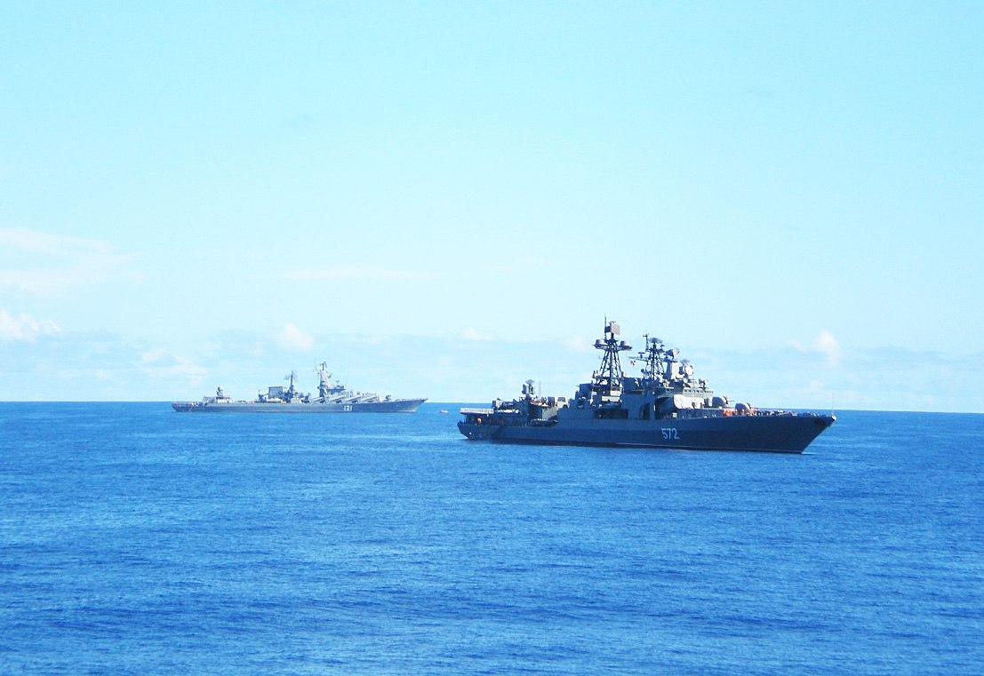 Тихий океан. Крейсер Москва, БПК Адмирал Виноградов