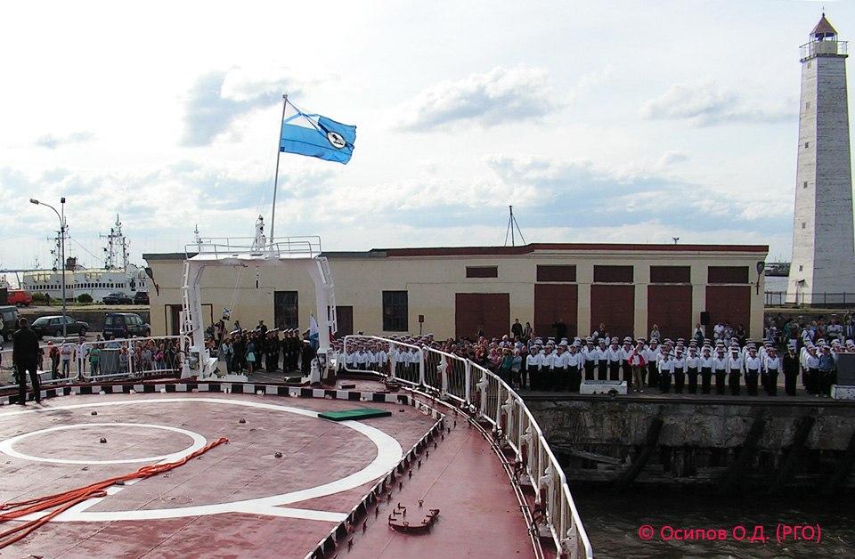 Отход ОИС «Адмирал Владимирский» из Кронштадта
