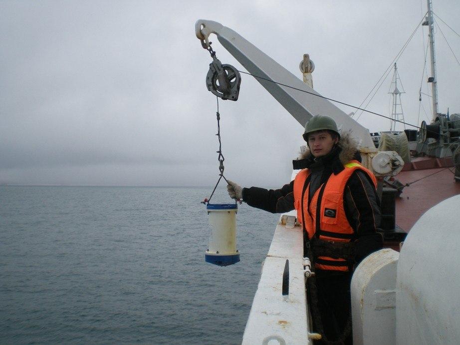 Океанографические работы возле о.Новая Земля