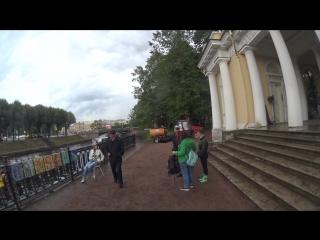 Съёмки клипа Тучи в Питере. Михайловский сад / Мойка ActionCamera 1