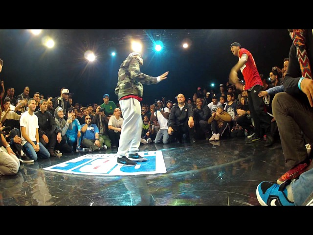 Benji calling out Lilou at Bboy France 2013