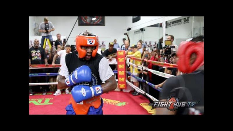 Floyd Mayweather vs Andre Berto Complete Mayweather sparring video