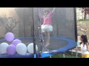 popping the balloon during birthday party