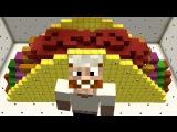 Minecraft vs Zombies MEGA GOLDEN TACO!! PvZ Land