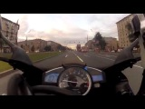 Скорость мотоцикла 300 кмч по Москве 1ч Мастер на спортбайке.
