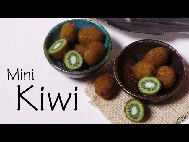 Miniature Kiwi Cane Kiwifruits - Polymer Clay Tutorial