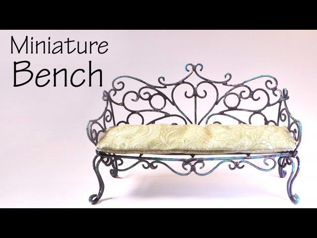 Miniature Furniture; Vintage/Romantic Bench Tutorial - Dolls/Dollhouse