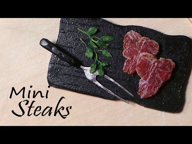 Miniature Steak (Raw / Uncooked) - Polymer Clay Tutorial