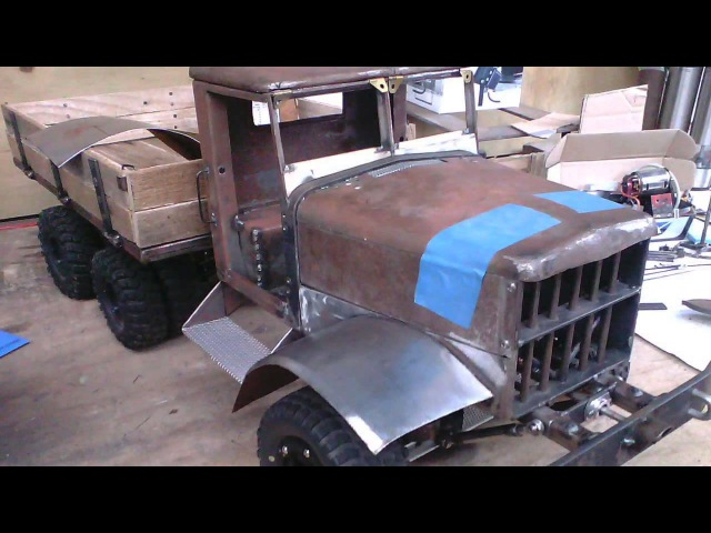 Project: Fatbetty - Forum build thread slide show. Home made steel RC army truck.