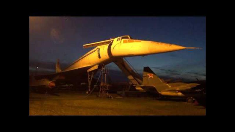 Опускание-подъем ОНФ Ту-144 в Монино/Tu-144 in Monino