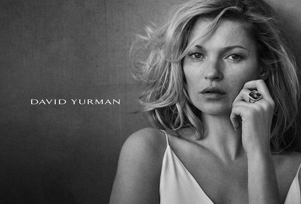 Фото Кейт Мосс (Kate Moss) для рекламы ювелирного бренда David Yurman 2015
