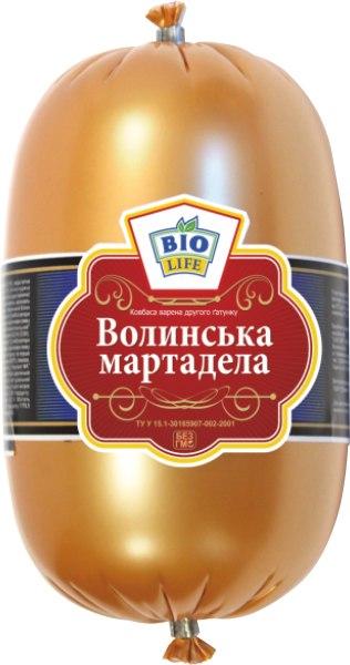 """Ковбаса варена """"Волинська Мартадела"""" /Біо Лайф/, 1кг"""