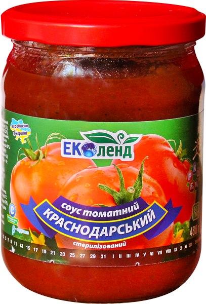 СОУС КРАСНОДАРСЬКИЙ 480 г. ЕКОЛЕНД