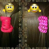 Как склеить резинку пружинку для волос