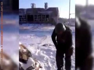 Вон побежал Ромчик укров долбить террористы продолжают обстрелы донецкого аэропорта