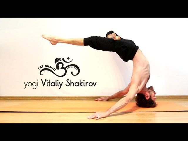 Yogi Vitaliy Shakirov /Cat Shanti/ - Daily yoga practice at home 20.05.2015.