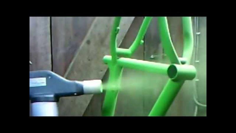 Порошковая покраска велорамы металлоизделий