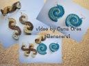 Crochet earrings bracelet