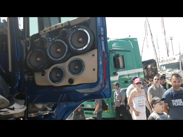 HI FI SPL SHOW SU scania r flli acconcia misano truck 2011