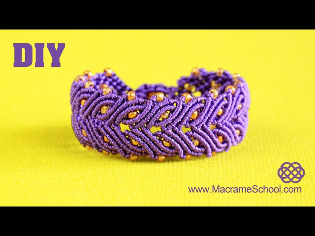Laurel Leaf Bracelet Tutorial | Macrame School