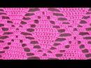 Ажурный узор крючком Часть 2 Openwork pattern for the dress. beautiful pattern