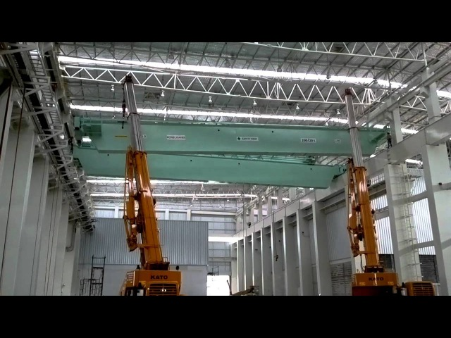 Монтаж крана видео Installation Cranes 200 ton by BSI Konecranes mp4