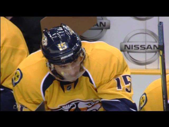 Craig Smith Misses Empty Net vs Leafs - Nov 17th 2011 (HD)