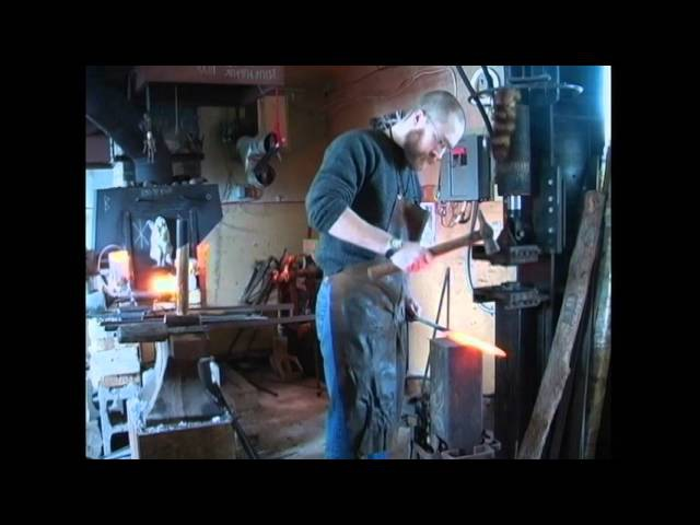 Forging A pattern-welded Viking sword