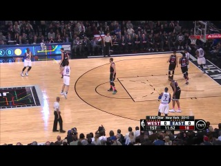 LeBron James Starts Off with a Dunk | West vs East | February 15, 2015 | NBA All-Star Weekend 2015