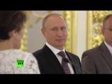 Владимир Путин вручает ордена Родительская слава семьям, воспитывающим 7 и более детей