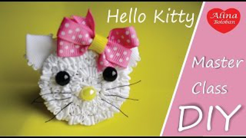 Hello Kitty - Резинка для Волос / How to Set Hair Elastics Hello Kitty. Hobby. DIY