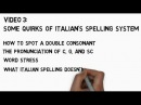 Italian Pronunciation, Video 3: Quirks of Italian's Spelling System