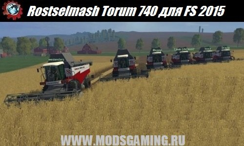 Farming Simulator 2015 download modes combine Rostselmash Torum 740 Combine v1.1