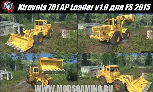 Farming Simulator 2015 download mod tractor Kirovets 701 AP Loader v1.0