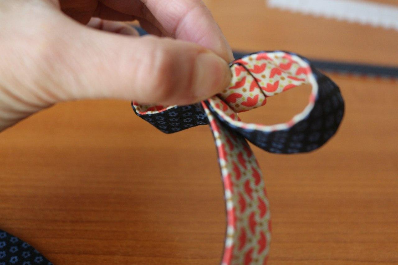 Выкройка галстука-бабочки