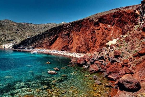 Красный Пляж (Red Beach), Греция, Санторини
