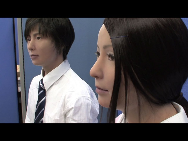 Incredibly realistic male and female android robots from Japan - Actroid-F DigInfo