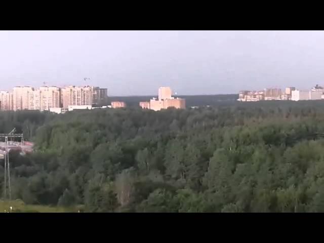 Шаровая молния в Москве (район Митино) 27.07.2015 18:39