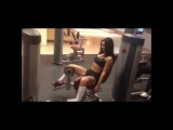 Training leg muscles, force and mass, fitness bodybuilding exercises are super !