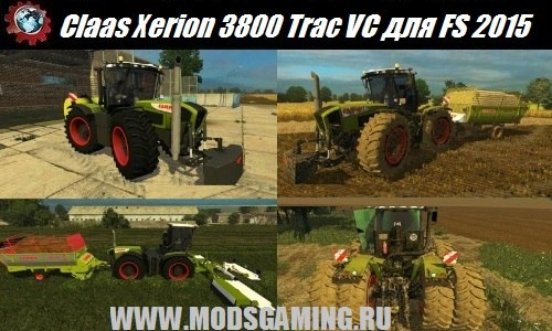 Farming Simulator 2015 download mod tractor Claas Xerion 3800 Trac VC v2.0