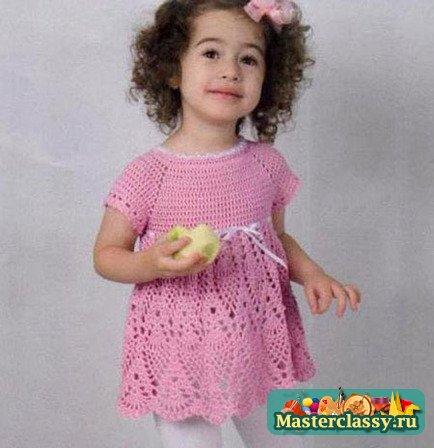 Ажурное платье крючком на девочку 3 лет… (4 фото) - картинка