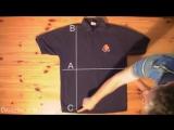 как быстро складывать футболку