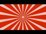 Футаж - радиальная заставка-красная